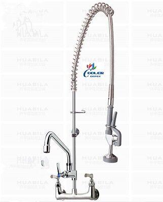 new commercial sink faucet w flush line kitchen restaurant bar model fc61 ebay