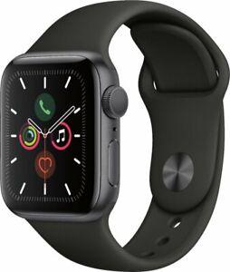 Apple Watch Gen 5 Series 5 40mm Space Gray Aluminum - Black Sport Band MWV82LL/A