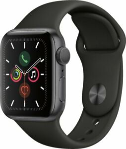 Apple Watch Gen 5 Series 5 40mm Space Gray Aluminum - Black Sport Band MWV82LL/A