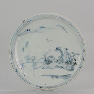 Antique Japanese Shoki Imari Plate ca 1630-1640 Arita Japan Porcelain[:z..