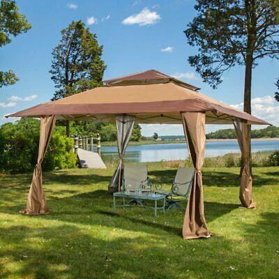 maximus royal 4x4m pop up gazebo outdoor patio canopy tent ebay