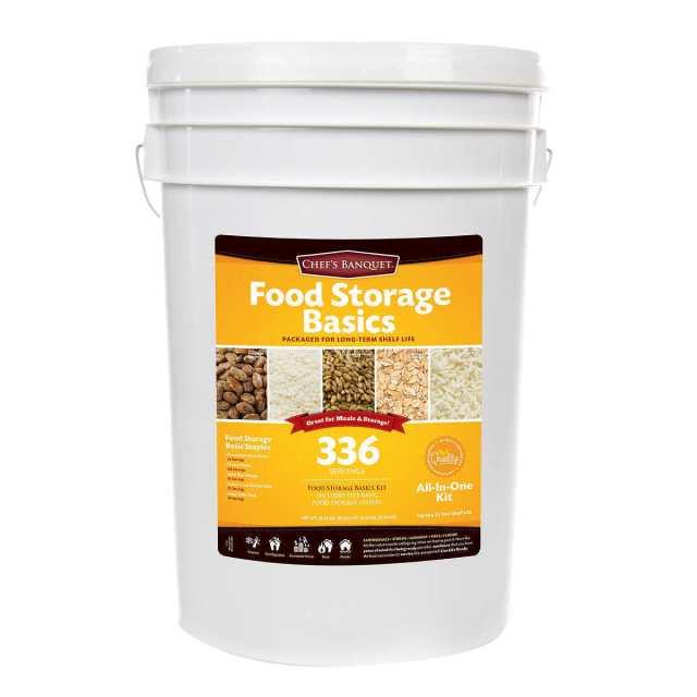 Chefs Banquet 336 Servings Emergency Food Storage Basics Supply Gamma Lid Bucket 2