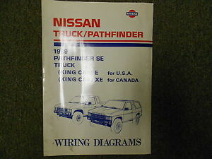 1989 Nissan Truck Pathfinder Wiring Diagram Service Repair Shop Manual FACTORY x | eBay