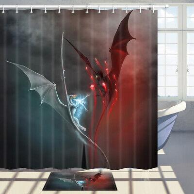 red dragon bathroom polyester fabric