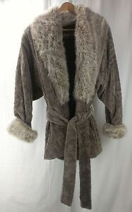 Vintage Fun Faux Fur Coat Monterey Fashions USA Made Sz Large L   eBay Image is loading Vintage Fun Faux Fur Coat Monterey Fashions USA