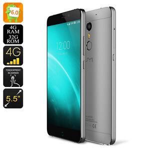 UMI Super Android Smartphone - Android 6.0, 4GB RAM, Octa Core CPU, Dual SIM, 25