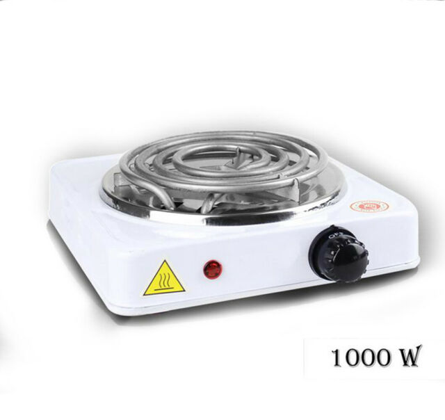 Portable Electric Stove Burner Hot Plate Heater For Cooking 110v 1000w White For Sale Online Ebay