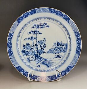 A large/fine Chinese 18C blue&white charger-Yongzh