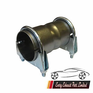 details about 45mm 1 75 inch clamp on exhaust pipe joiner connector sleeve tube repair