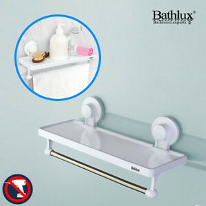 details sur etagere mural salle de bain avec porte serviette ventouse sans percage 4kg