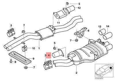 genuine bmw e46 e90 e91 exhaust muffler vibration absorber oem 18107506145 ebay