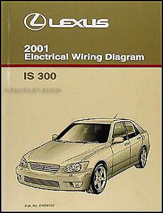 2001 Lexus IS 300 Wiring Diagram Manual Original IS300
