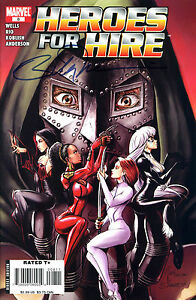 HEROES FOR HIRE #8 SIGNED BY ARTIST WILLIAM TUCCI (LG)