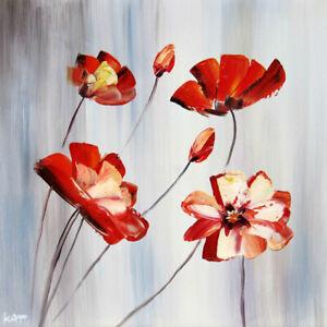 details sur tableau abstrait tableau peinture huile fleur moderne art deco murale chassis