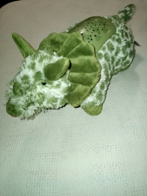 pillow pets dream lites mini projection night light green triceratops 3 colors