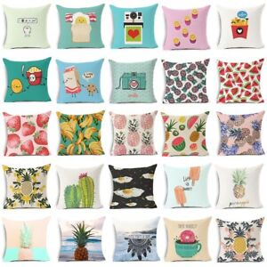 details about pineapple cushion cover plant fruit banana ice cream decorative pillows cover