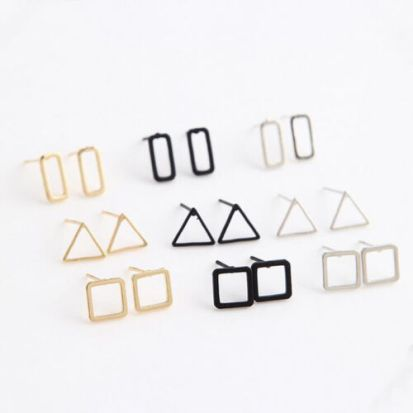 Hot-Fashion-Women-Earring-Hollow-Geometric-Bar-Circle-Ear-Stud-Earrings-Jewelry