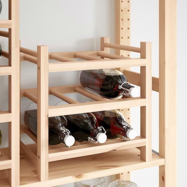 etagere a vin range bouteilles bois massif armoire a bouteille porte boissons