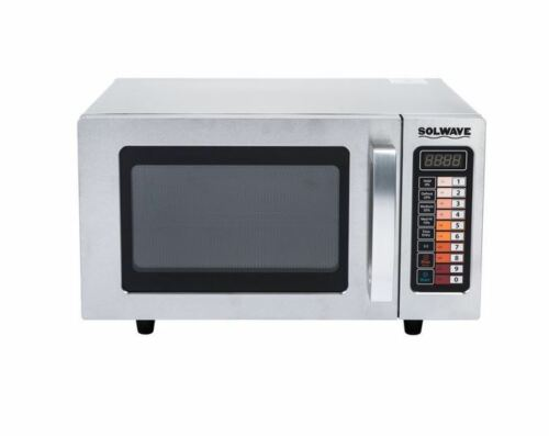 heavy duty stainless commercial microwave oven with push button controls 1000w commercial kitchen equipment business industrial