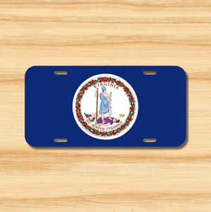 Virginia State Flag License Plate Vehicle Auto Tag ...