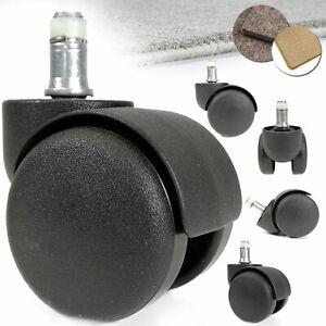 details sur roulette pour chaise de bureau 10mm ou 11mm roues pour tapis freinees o 50 mm