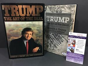 DONALD TRUMP SIGNED AUTOGRAPH THE ART OF THE DEAL 1ST ...
