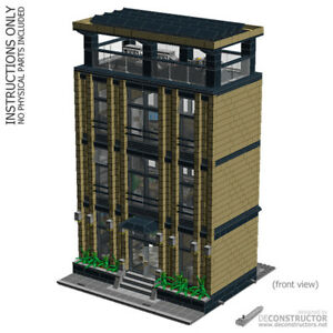 LEGO Corporate Headquarters   custom modular building  MOC     Image is loading LEGO Corporate Headquarters custom modular building  MOC INSTRUCTIONS