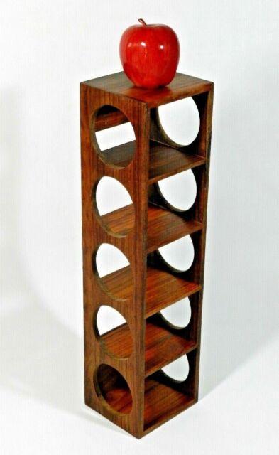 crate and barrel shesham 5 bottle wall mount stacking wine rack