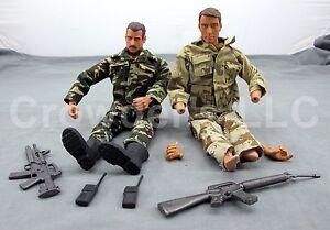 Vintage Lot Of 2 Mixed Military Action Figures Weapon Mac Es Toys Gi Joe Ebay