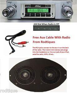 19631964 Ford Galaxie Radio  Dual Dash Speaker  iPod