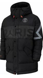 details about psg x jordan down parka nike winter jacket paris saint germain bq8371 010 sz l