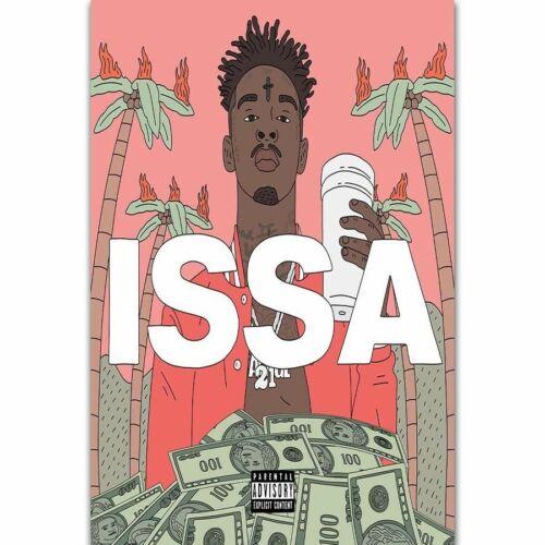 art posters c395 21 savage issa album new 2017 hip hop rap music album 24x36 21 poster art