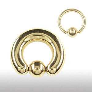 1,6mm Piercing Ring GOLD Größe 6-14mm OHR INTIM Lippen Bauchnabel PIERCING