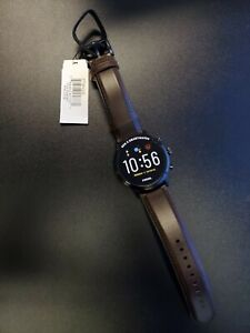 New Fossil Gen 5 Carlyle Stainless Steel Smartwatch Brown Leather FTW4026 + More
