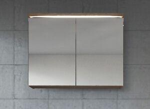 Meuble A Miroir 80x60 Cm Lefkas Miroir Armoire Miroir Salle De Bains Verre Arm Ebay