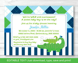 Preppy Alligator Argyle Printable Baby