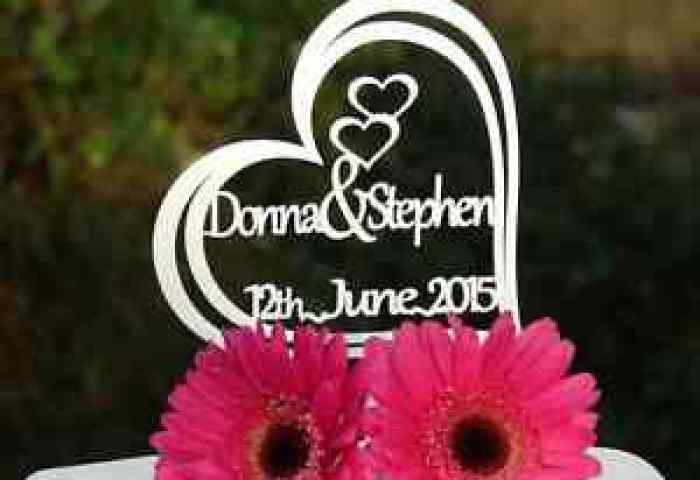 Personalised Name Name Wedding Anniversary Cake Topper