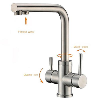 3 way kitchen taps crea dual handle ro drinking water kitchen faucet with spout 767520221918 ebay
