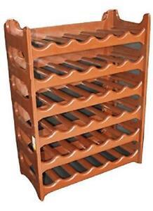 details sur cave a vin modulable etagere bouteilles casier rangement 36 bouteilles brun neuf