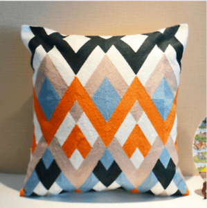 details about orange black blue white zigzag cotton aztec 3d pillow throw cushion cover 18