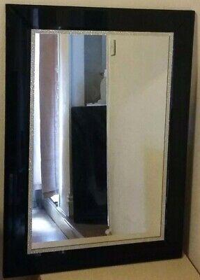 large mirror black frame velvet trim ebay