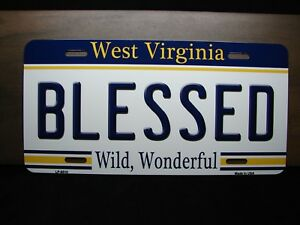 BLESSED WEST VIRGINIA LICENSE PLATE TAG FOR CARS W ...