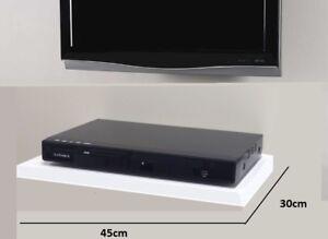 details sur blanc flottant media etageres etagere pour dvd sky box tv av xbox mural nouveau afficher le titre d origine