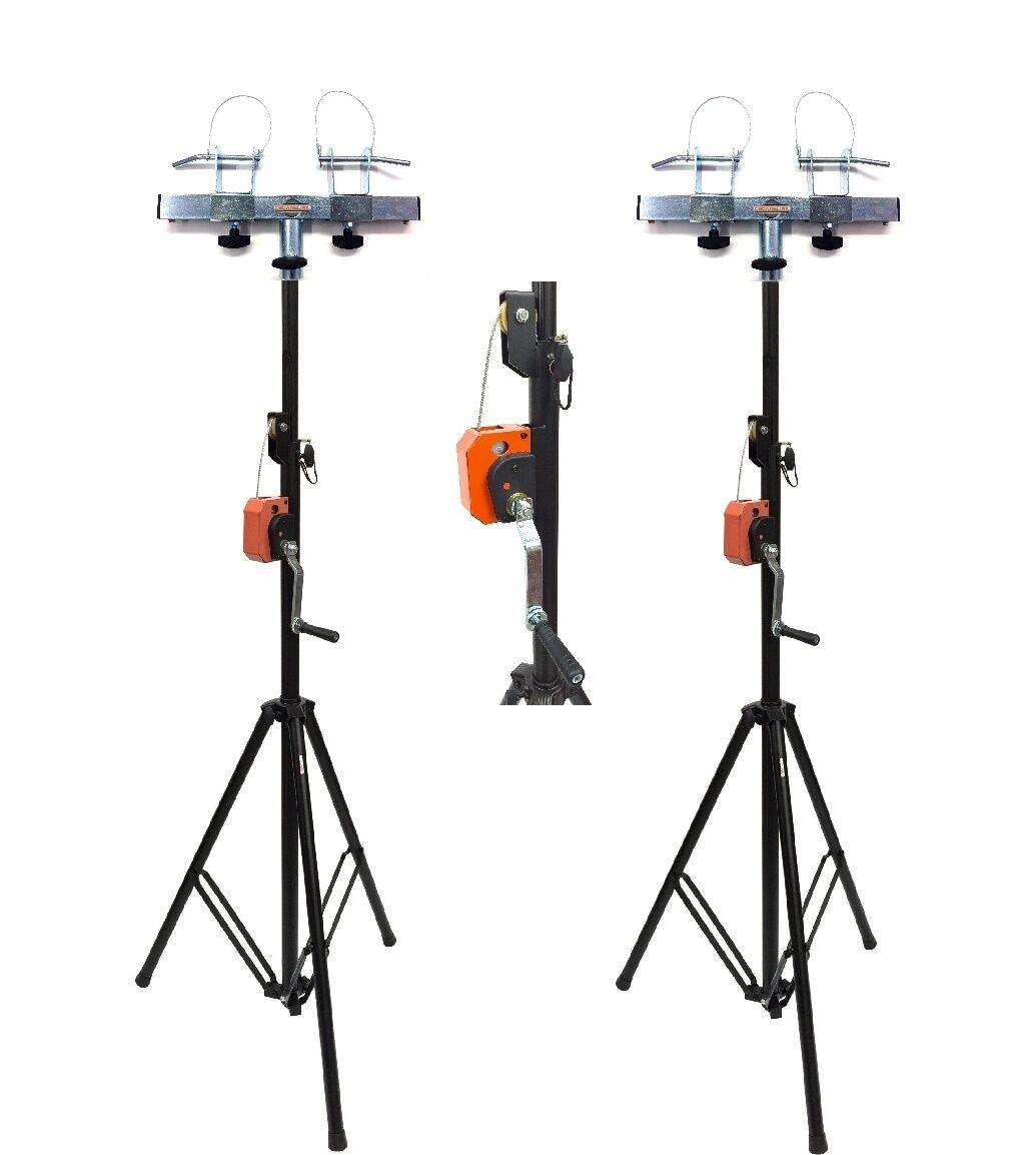 2 Dj Pro Lighting 10 Foot Crank Light Stand Amp 2 Square