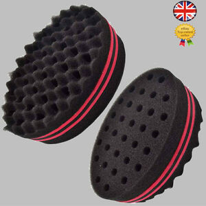 double sided twists barber hair sponge foam brush for locking afro curls coils