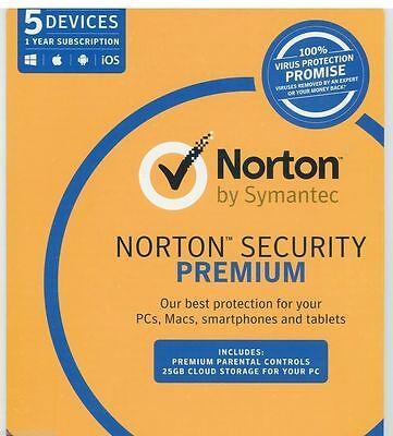 Norton Symantec Security Premium 2018 - 2019 Antivirus 5 ...