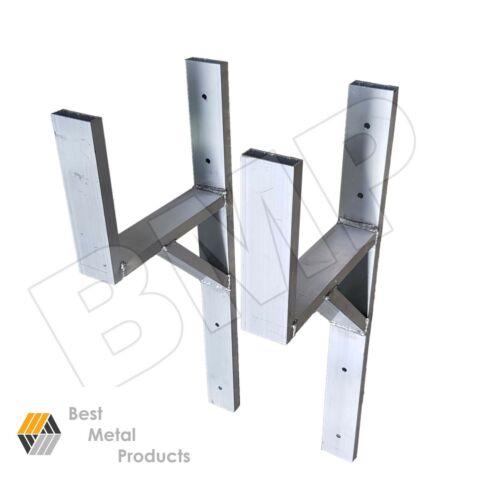 automotive or exterior 1100128 ladder rack pair aluminium enclosed trailer wall mount in automotive tools supplies