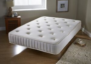 Image Is Loading Luxury Tufted Memory Foam Amp Bonnell Spring Orthopaedic