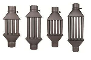 Stovepipe Heat Reclaimer Radiators Set Of 6 Exchangers 3 Inch Dia Stove