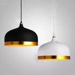 details about black gold saturn pendant lamp chandelier bar office loft decor ceiling light